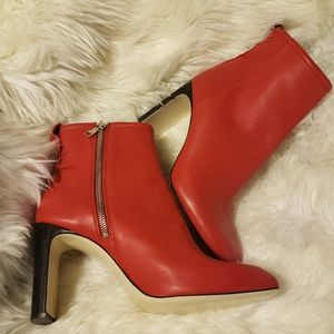 Rag & Bone red leather Ellis ankle boot
